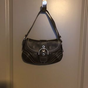 COACH Small Brown Leather HOBO